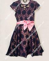 Оригинальное платье для девочки с бантиком 50372