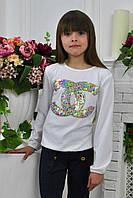 Нарядная трикотажная блуза для девочки.