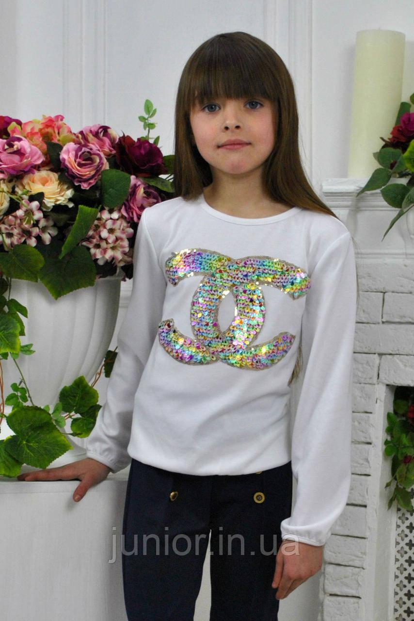 Трикотажные блузки для девочки купить