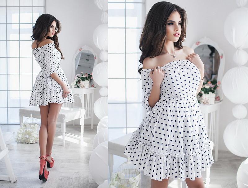 Красивое женское платье короткое