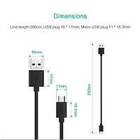 Шнур AUKEY длиной 2 метра USB - micro USB дата-кабель кабель питания ЮСБ шнурок USB-microUSB 2м