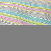 Коттон-жатка с розовой, голубой и желтой полоской