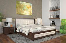 Кровать деревянная с подъемный механизмом  и мягкими вставками Рената Д фабрика Арбор Древ, фото 3