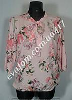 Блуза с бантом женская