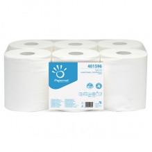 Полотенца рулонные, белые, 2-слойные, целлюлоза, вытяжные, ACTION, 450 лист., 137,5 м, 6рул./уп. (IMB-401596)