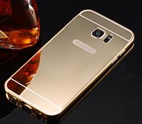 Чехол для Samsung S6 золотой зеркальный акрил