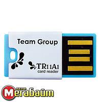Card reader microSD/SDHC Team Micro Reader TR11A1 USB2.0 Blue