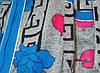 Халат женский AB03 с поясом на змейки рюши карманы цветы батал (лето), фото 2