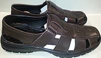 Туфли мужские летние натуральная кожа р40-45 448-001 шоколад