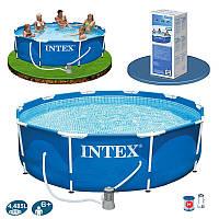 Бассейн каркасный Intex 28212 (56996) Metal Frame Pool (366х76 см)