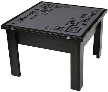 Главная » Многофункциональный журнальный и обеденный стол трансформер. Журнальный стол трансформер – это та самая полезная изюминка, которая украсит любой интерьер, как маленькой, так и большой квартиры, придаст комфорт и уют комнате. Это универсальный стол с помощью нескольких модификаций при необходимости превратиться в большой обеденный. Вы сможете с лёгкостью рассадить за таким столом всю свою семью, гостей или просто поработать за ним. Благодаря многофункциональности журнальный стол трансформер станет незаменимой мебелью, которая выручит вас в различных ситуациях и станет действительно не заменимой мебелью.  Товарная группа журнальных столов трансформеров включает в себя кофейный журнальный стол трансформер, чайный, а также прикроватные модели. Первый вариант предназначен для того, чтобы при необходимости в собранном состоянии выполнять функции удобной тумбочки, второй в складном состоянии немного больше, и рассчитан на несколько персон. Прикроватные столы трансформеры самые маленькие и напоминают небольшую тумбочку, на которую можно поместить газеты и журналы. Важно знать, что столешница журнального стола трансформера меньше обеденного стандартного и расположена она ближе к полу.  Журнальный стол трансформер на сегодняшний день представлен в большом разнообразии цветовых решений и форм. Подобрать необходимый цвет под интерьер не составит труда, ведь производители предлагают большое количество моделей под любой стиль. Яркие цвета, узоры, необычные материалы. Формы также представлены во всём великолепии: круглые, квадратные, прямоугольные и т.д.  Материалы, из которых изготавливают журнальные столы трансформеры сегодня на любой вкус и цвет: дерево, стекло, камень, металл, лоза и т.д. Существуют также многослойные журнальные столы трансформеры, которые представляют собой столы с большим количеством отделений, ниш для хранения газет, некоторые даже с внутренней подсветкой.  Купить журнальный стол трансформер можно в нашем интернет-магазине. Здесь представлен больш