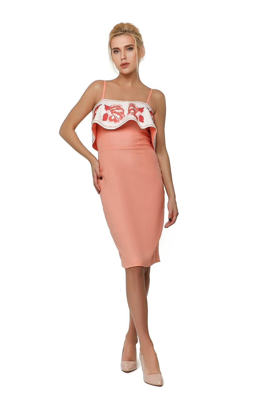 Платье женское Nenka персикового цвета одежда ТМ Ненька р.M 788951c07e12f