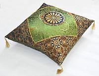 Наволочка декоративная шелковая G-02 оливка 45х45