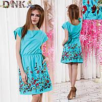Платье с цветочным принтом летнее