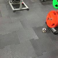 Резиновое напольное покрытие Квадрат со сцепкой повышенной износостойкости