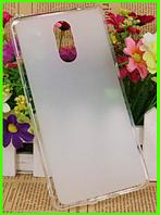 Силиконовый матовый прозрачный чехол, бампер для Bluboo maya max (белый)