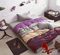 Комплект постельного белья поплин Тм Таg евро размер 0224
