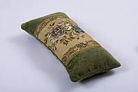 Наволочка декортативная гобелен - валик оливка 22*45
