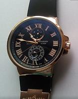 Часы мужские Ulysse Nardin Marine кварцевые черные с линзой