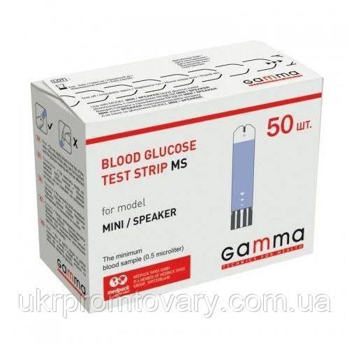 Тест-полоски Gamma MS, 50 шт, распродажа