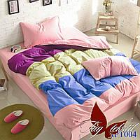 Комплект постельного белья поплин Тм Таg евро размер 004