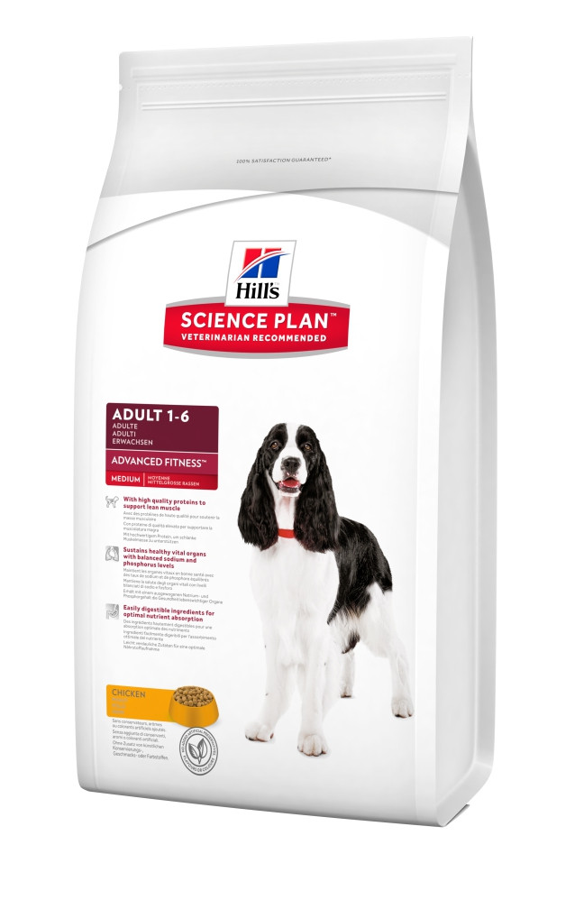 Сухой корм Hills Science Plan™ Canine Adult Advanced Fitness™ Medium  со вкусом курицы 12 кг