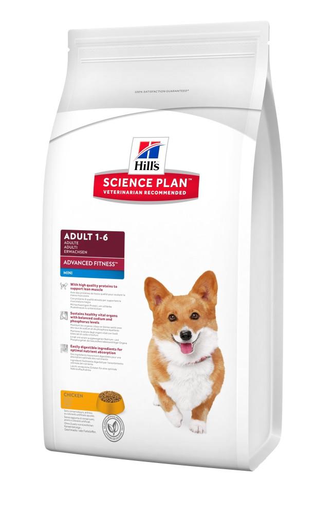 Сухой корм для собак малых пород со вкусом курицы Hills SP Canine Adult Advanced Fitness Mini  0,8 кг