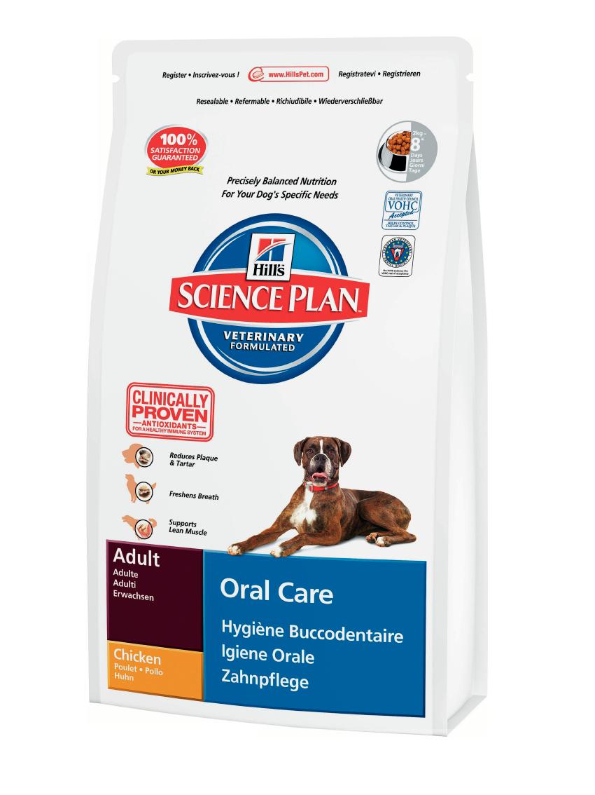 Сухой корм Hills Science Plan™ Canine Adult Oral Care со вкусом курицы 5 кг