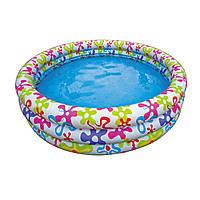 Детский бассейн для дачи Intex 56440 Разноцветный всплеск, 3 кольца, 481 л, винил, 168х41 см, 2,183 кг