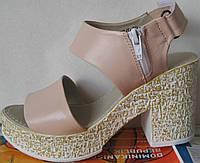 Fatini! женские сандалии платформа каблук босоножки сандали кожаные