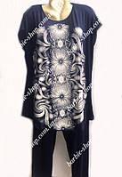Женский комплект с бриджами большого размера 50214