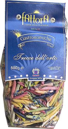 Итальянские макароны цветные Fattora Gastronomiche Trecce di Giulietta 500 гр.