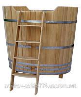 Купель из дуба для бани овальная 1300 литров