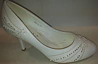 Туфли женские белые р35 CAMIDY 908-10 SADI
