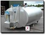 Танк охладитель молока закрытого типа 2500л Serap Франция