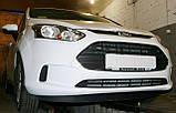 Декоративно-захисна сітка радіатора Ford B-MAX бампер, фото 5
