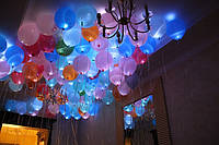 Накачка гелием светодиодных шариков №5