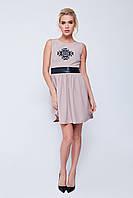 Женское молодежное платье бежевое ТМ Nenka p.XS