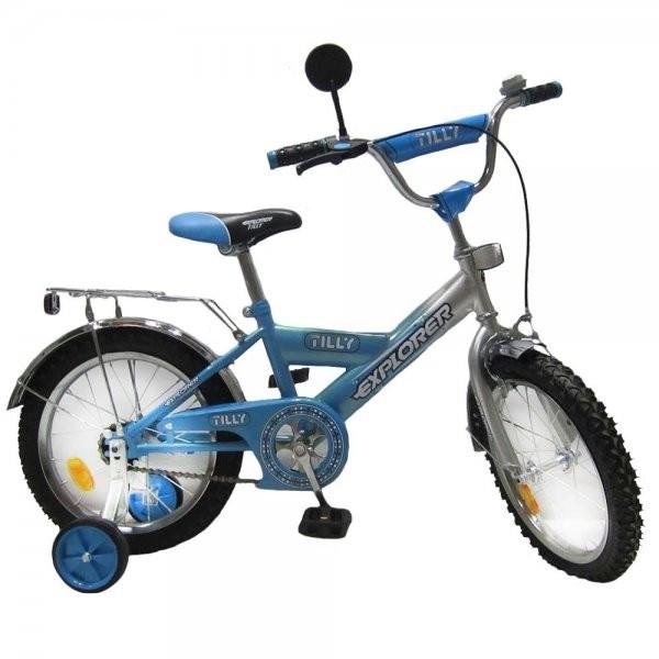 Детский двухколесный велосипед EXPLORER 16 дюймов T-21612 blue