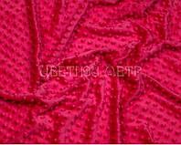 Ткань плюш Minky темно-розовый