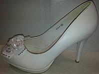 Туфли женские белые р37 CAMIDY 913-4 SADI