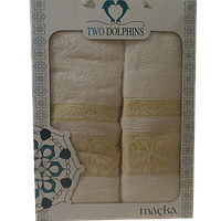 Набор полотенец (Турция) 2 Пр. (50х90-70х140) - серии Macka (белый)