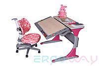 Комплект Детская парта растишка трансформер Ergoway T100B Pink + Кресло M300-D Pink + ПОДАРОК