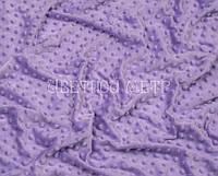 Ткань плюш для подушек Minky отрез 100*80 см лавандовый