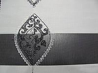 Рулонные шторы день-ночь с ажурной вышивкой люрексной нитью..