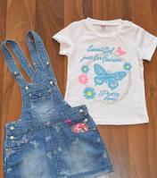 Летние костюмы-двоечки для малышек