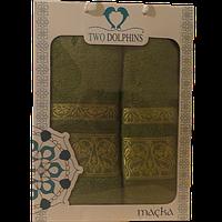 Набор полотенец TM Sveline Tekstil (Турция) 2 Пр. (50х90-70х140) - серии Macka (салатовый)