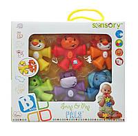 """Развивающая игрушка-конструктор """"Красочные животные"""" Sensory, Bkids"""
