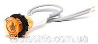 Арматура сигнальная 10мм  с силиконовым кабелем 125мм неоновая лампа 220В жёлтая