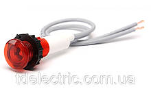Арматура сигнальная 10мм неоновая лампа 220В S100K красная